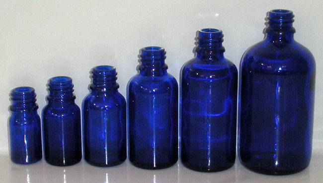 Cobalt Dropper Bottles