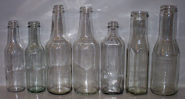 Clear Glass Sauce Food Bottles