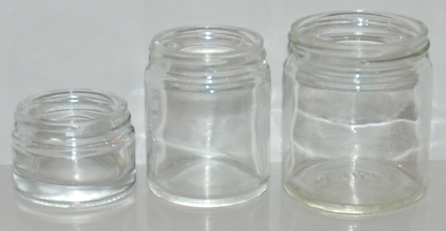 Flint Glass Jars