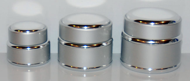Metal Shelled Glass Jars