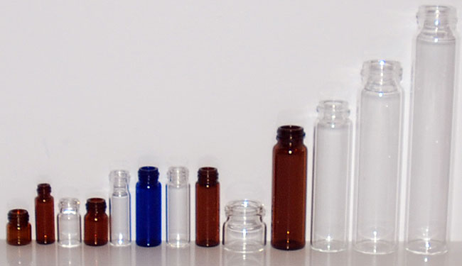 screw cap glass vials