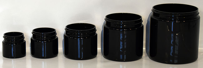black PET jars