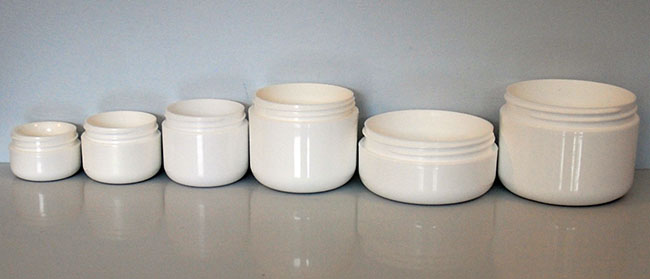 round base double wall jars