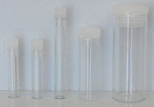 glass vials with stoppers